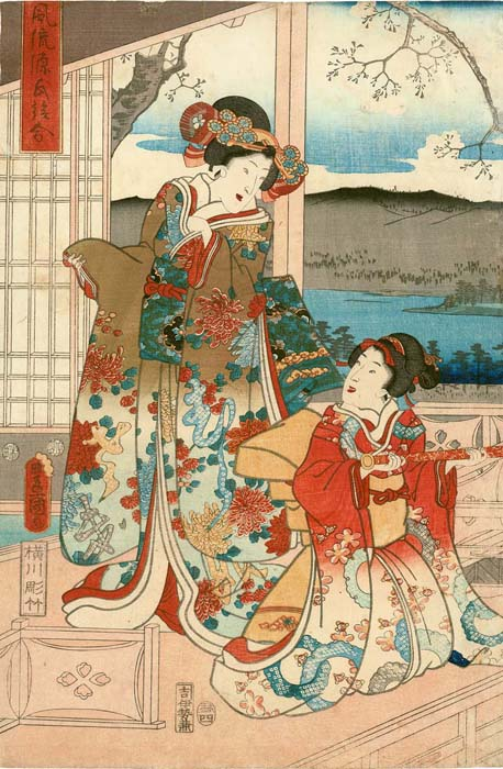 Kunisada: Ladies with a telescope