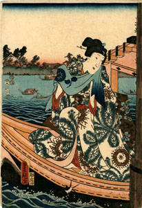 Kunisada: Enjoying the evening cool