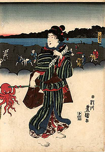 Kunisada: A summerday at the beach