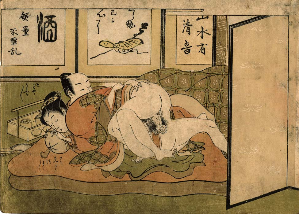 Koryûsai: Lovers on a futon