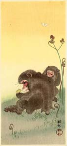 Koson: Two monkeys