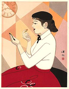 Shinsui: Lady with lipstick