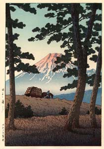 Hasui: Abend in Tagonoura