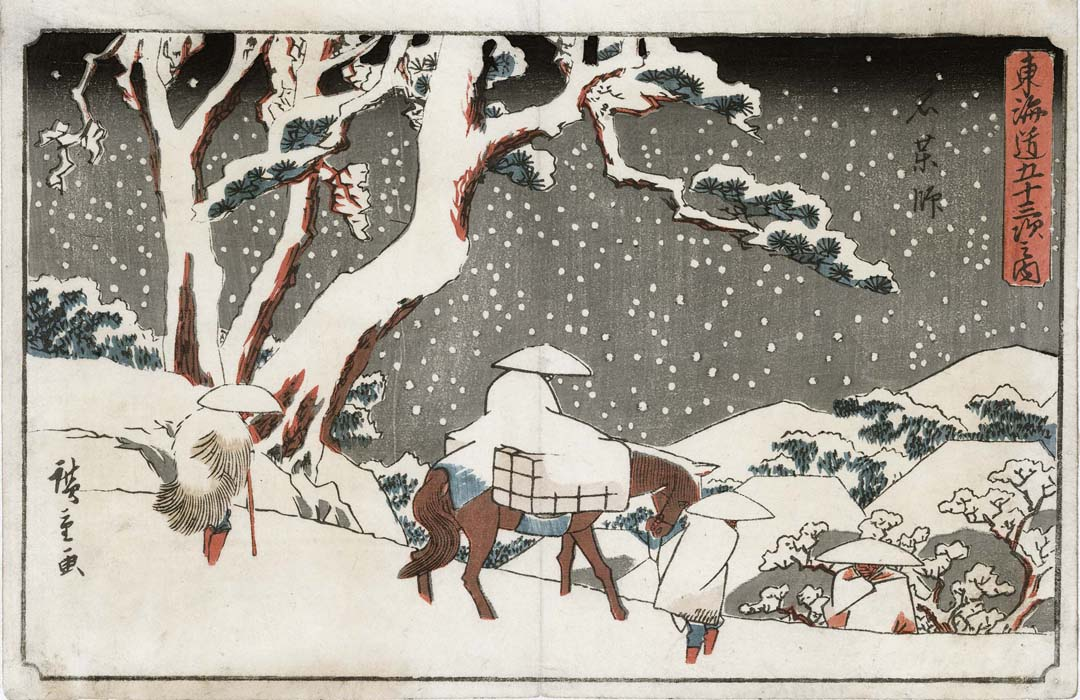 Hiroshige - Travelers in the Snow