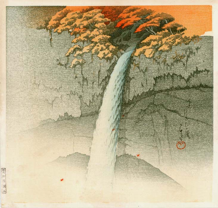 Hasui: Kegon waterfall in Nikkô