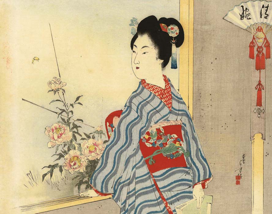 Toshikata: The daydreaming lady