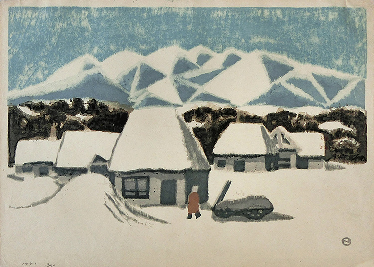 Azechi  - Snow-covered village