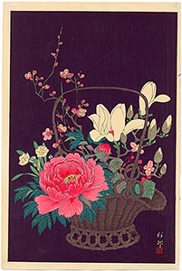 Koson - Flowers in a basket