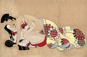 Shunga painting - Courtly lovers