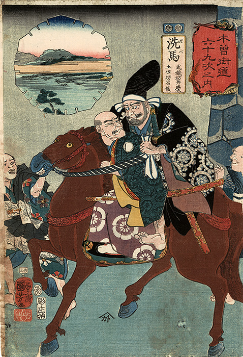 Kuniyoshi - The warrior monk Benkei