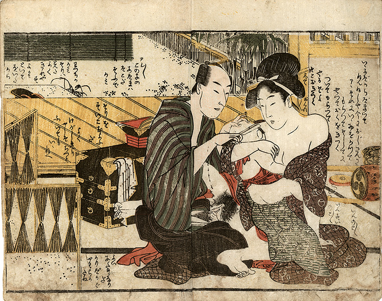 Utamaro - Love with the barber