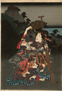 Kunisada(Toyokuni III)-Genji-At the lake Biwa