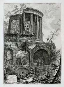 Piranesi - Rome - The temple of the Sibyl