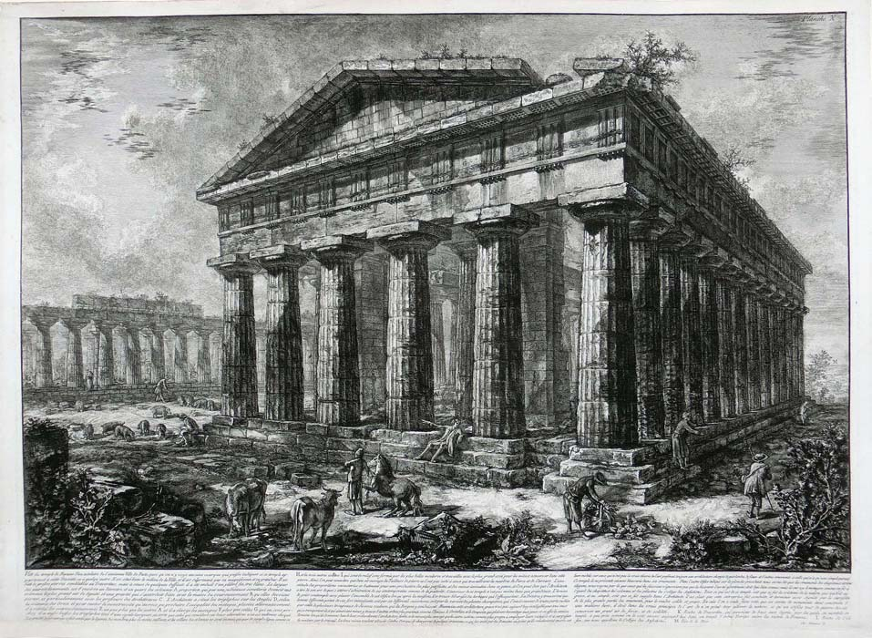 Piranesi - Paestum - View of the temple of Neptune