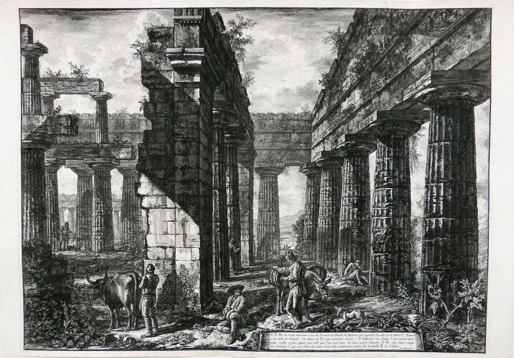 Piranesi - Paestum- Pronaos of the temple of Poseidon