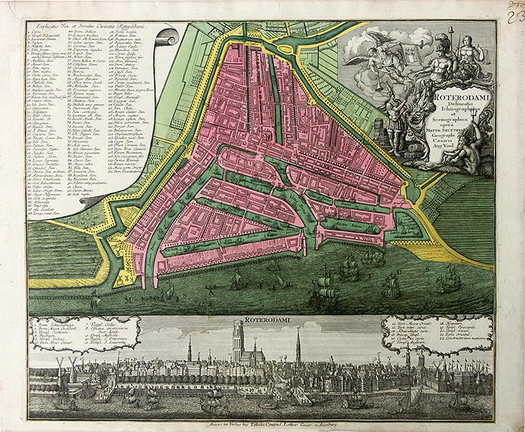 Rotterdam - Town plan and view