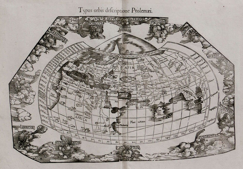 Frisius: World map after Ptolemy