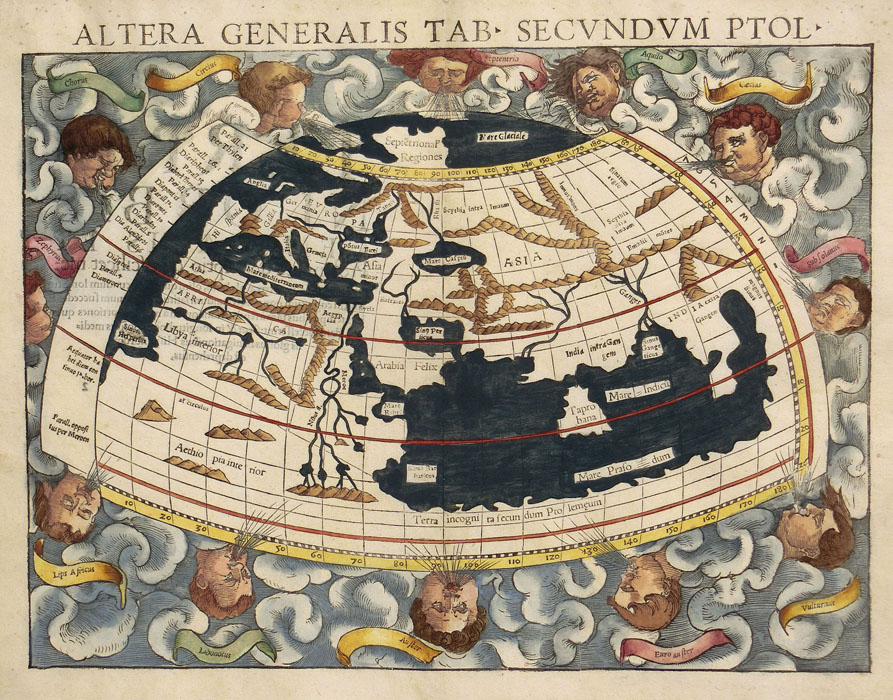 Münster: World map after Ptolemy