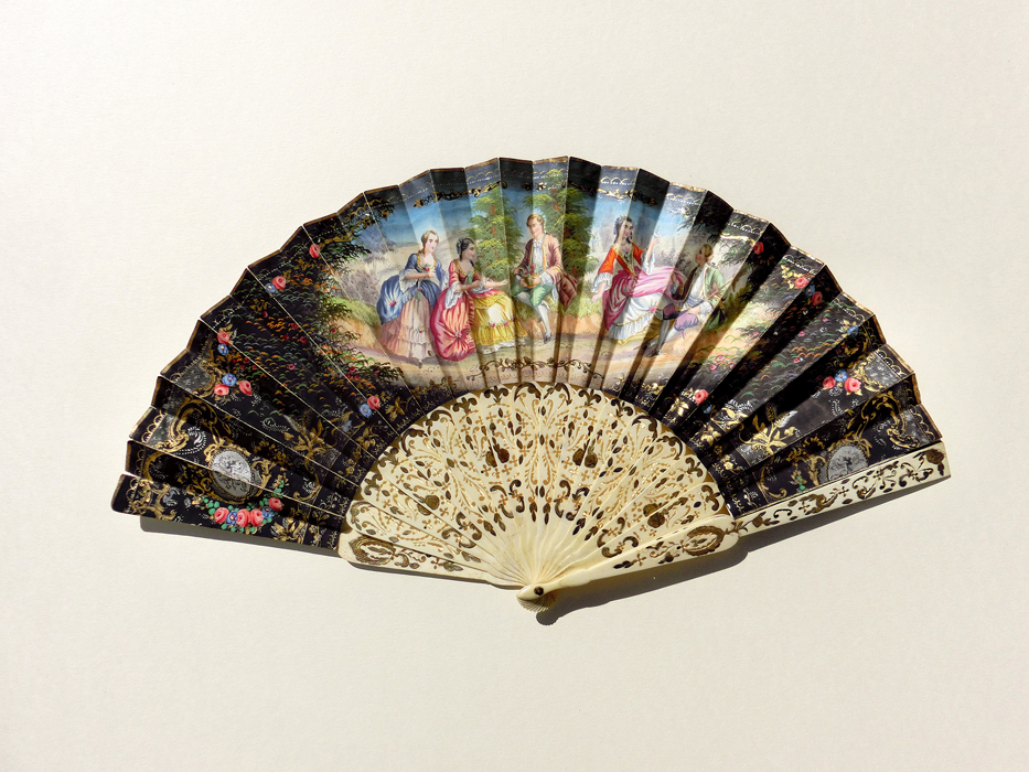 France: Biedermeier Folding Fan
