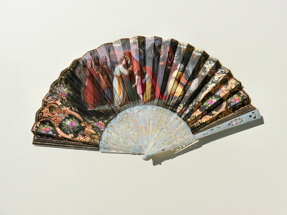 Spain: Folding Fan Gouache technique
